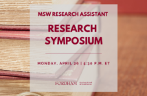 MSW RA Research Symposium flyer