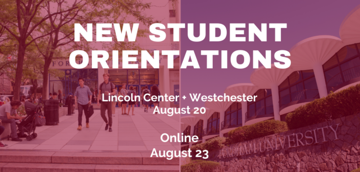 Fall 2021 New Student Orientation Schedule